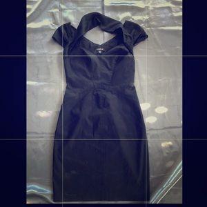Bebe Black Sleeveless Slim Fit Dress